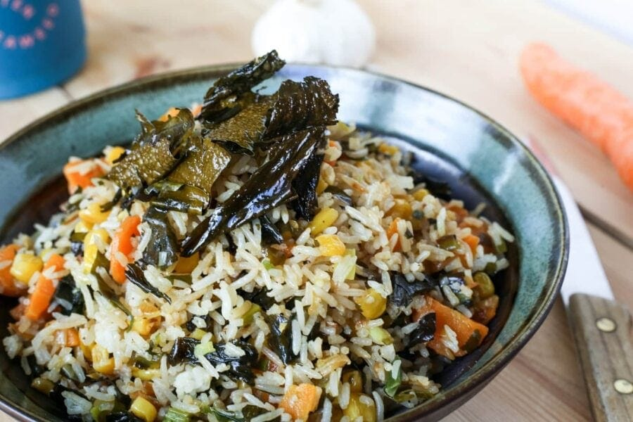 Image of winged kelp fried rice
